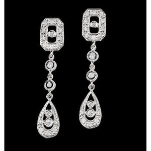 2.50 Carat Long Diamonds Chandelier Earrings White Gold Women Earring Chandelier Earring