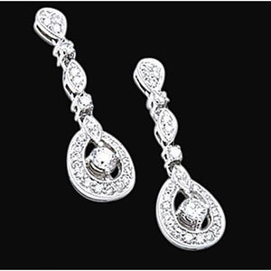 2.50 Carats Diamond Chandelier Earring Pair Beautiful Diamond Earring Chandelier Earring