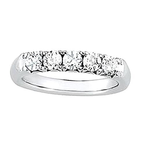 2.50 Carats White Gold 14K Diamond Engagement Band Prong Set Band