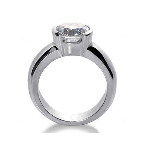 2.50 Ct. F Vs1 Solitaire Diamond Ring White Gold Solitaire Ring
