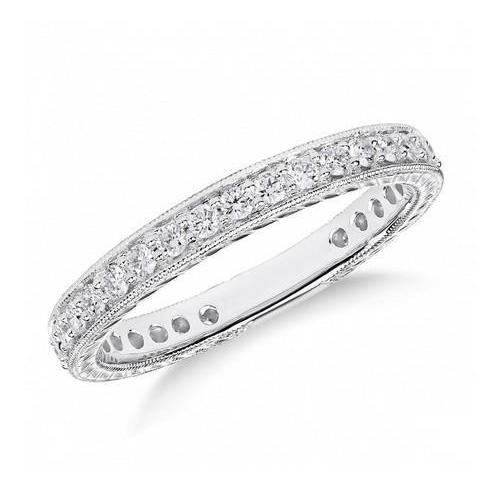 2.50 Ct Round Cut Diamonds Ladi Wedding Band 14K White Gold Band