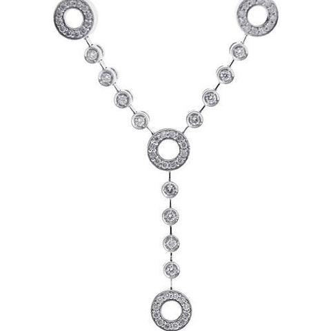 2.50 Ct Round Cut Small Diamonds Women Necklace White Gold 14K Necklace