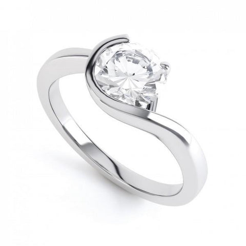 2.50 Ct Round Cut Solitaire Diamond Anniversary Ring