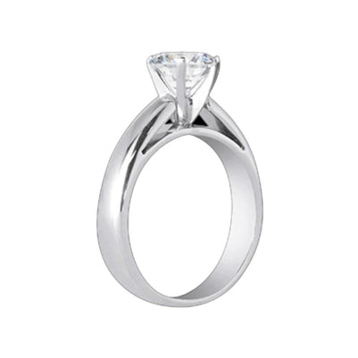 2.51 Carats Solitaire Ring Cathedral Diamond Ring Gold Solitaire Ring