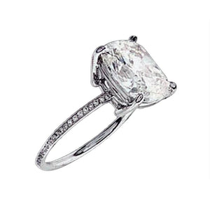 2.51 Ct. Sparkling Diamonds Ring Solitaire With Accents Solitaire Ring with Accents