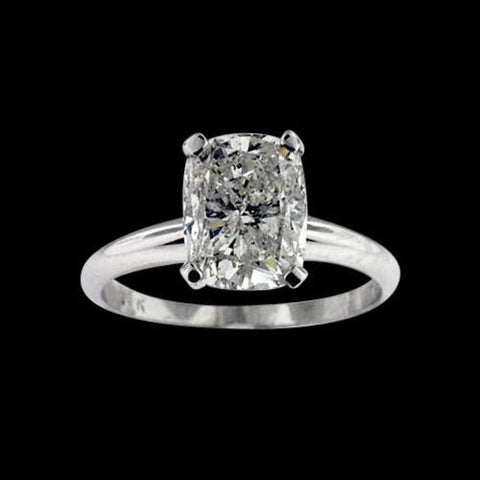 2.51 Ct Sparkling Radiant Cut Diamond Solitaire Ring Solitaire Ring