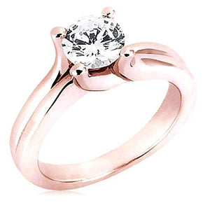 2.51 Ct.Sparkling Diamonds Solitaire Ring Gold New Solitaire Ring