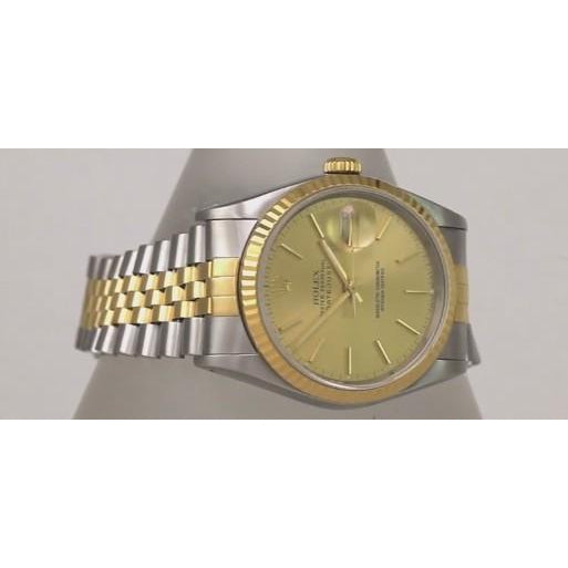 Rolex Rolex Date Just Men Watch 36Mm Champagne Dial Two Tone Bracelet