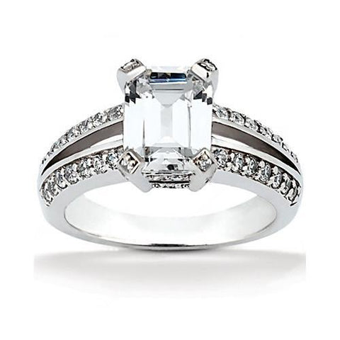 2.6 Carat F Vs1 Big Diamond Solitaire With Accents Ring Diamonds Engagement Ring Solitaire Ring with Accents