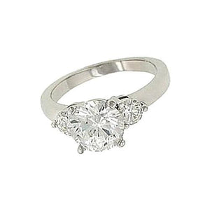 2.65 Carat Diamonds Engagement Ring Three Stone Gold Ring Three Stone Ring