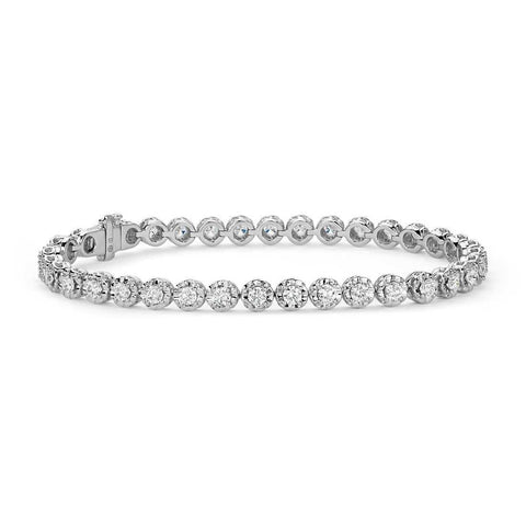 2.7 Ct Round Brilliant Cut Diamond Bracelet Tennis Bracelet