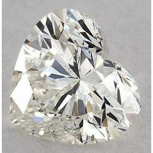 2.75 Carats Heart Diamond Loose H Si1 Good Cut Diamond