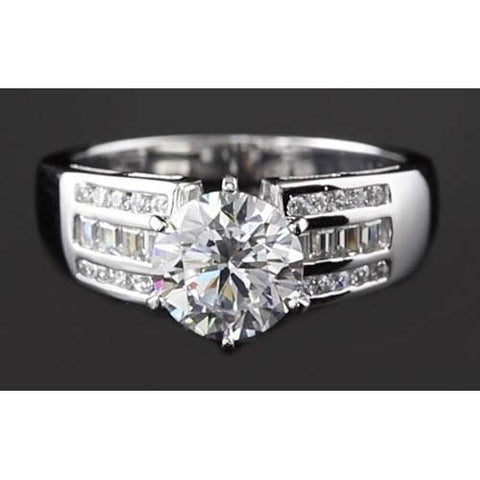 2.75 Carats Round Diamond Thick Shank Engagement Womens' Ring Engagement Ring