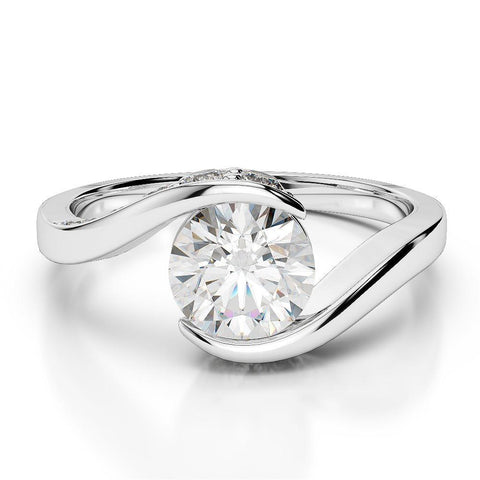 2.75 Carats Sparkling Round Cut Diamonds Wedding Solitaire Ring White  14K Solitaire Ring