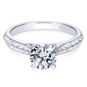 2.75 Ct Solitaire F Vs1 Round Cut Diamond Engagement Ring White Gold Solitaire Ring