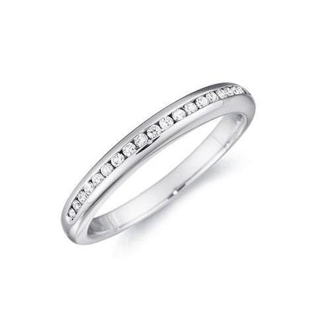 2.85 Carats Round Cut Diamonds Eternity Wedding Band White Gold 14K Eternity Band