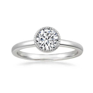 2.85 Ct Brilliant Cut Sparkling Diamond Anniversary Solitaire Ring White Gold Solitaire Ring