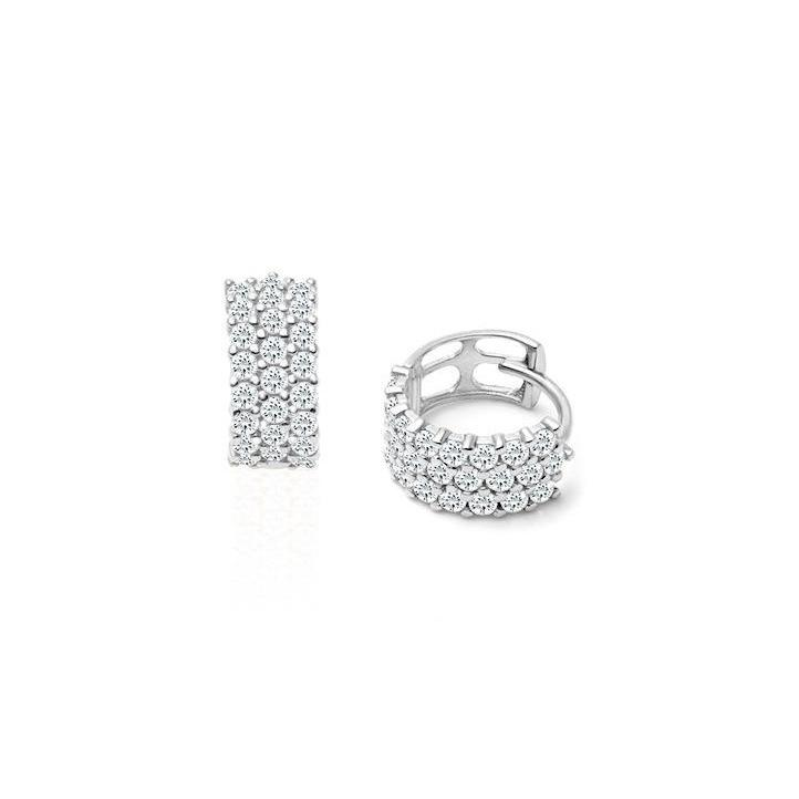 2.90 Ct Gorgeous Round Cut Diamonds Ladies Hoop Earrings White Gold Hoop Earrings