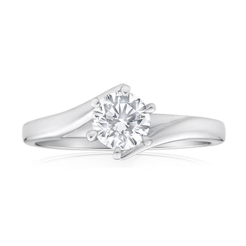 2Ct Six Prong Set Solitaire Round Cut Diamond Wedding Ring Solitaire Ring