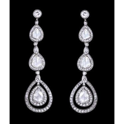 3 Carat Chandelier Diamond Earrings Pear Diamond Jewelry Earring Chandelier Earring