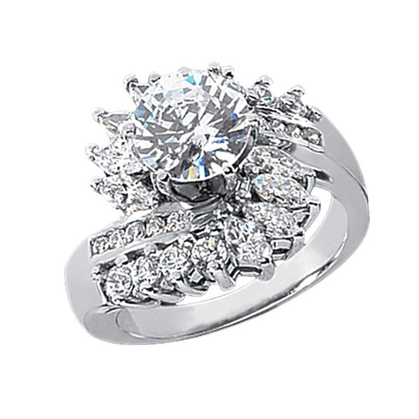 3 Carat Diamonds Floral Style Engagement Fancy Ring Lady Men Jewelry Gold Engagement Ring