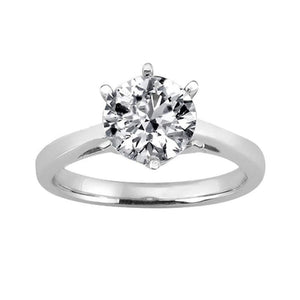 3 Carat H Si1 Diamond Solitaire Engagement Ring Cathedral Setting White Gold Solitaire Ring