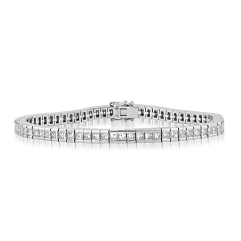 3 Carat Princess Diamonds Tennis Bracelet White Gold Tennis Bracelet