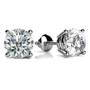 3 Carats Round Cut Diamonds Women Stud Earring White Gold 14K Stud Earrings