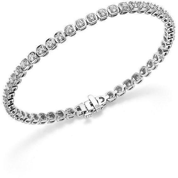 3 Ct Brilliant Cut Diamond Tennis Ladies Bracelet White Gold 14K Tennis Bracelet
