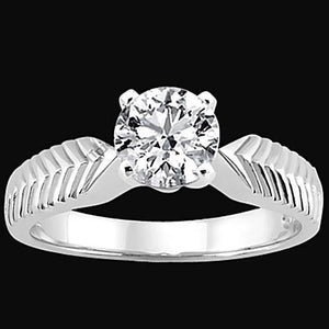 3 Ct. Diamond Solitaire Antique Style Ring Gold White Solitaire Ring