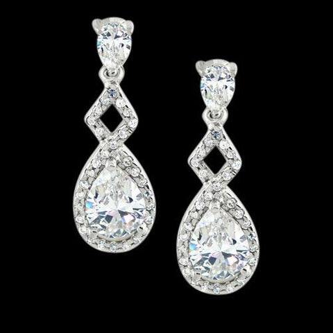 3 Ct. Pear Diamonds Hanging Style Earrings White Gold Lady Ear Ring Earrings