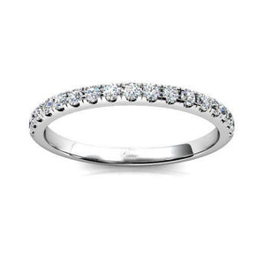 3 Ct Prong Set Round Diamond Half Eternity Band Ring White Gold 14K Eternity Band