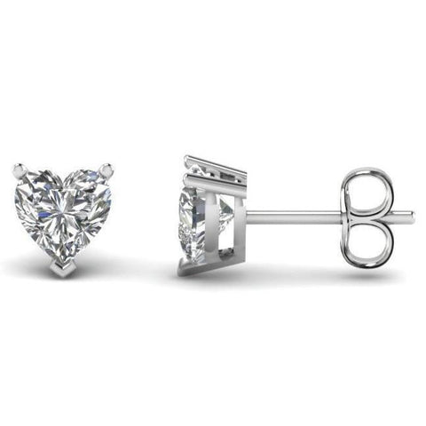 3.00 Carats Diamonds Studs Heart Cut Earrings Stud Earrings
