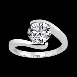 3.01 Carat Diamond Solitaire Engagement Ring Gold White Solitaire Ring