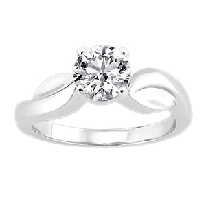 3.01 Ct. Round Diamond Solitaire Ring White Gold Solitaire Ring