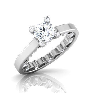 3.20 Carats Round Brilliant Cut Diamonds Wedding Ring Solitaire White Gold 14K Solitaire Ring