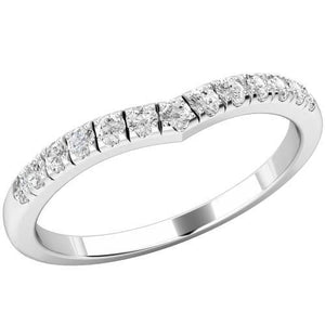 3.25 Carats Round Cut Diamond Wedding Band Solid White Gold 14K Band