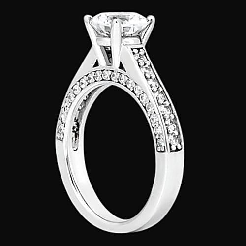 2 carat diamonds ring solitaire with accents jewelry ring
