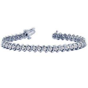 33 Stones 21.78 Round Diamond Tennis Bracelet F/G Vs2/Si1 White Gold 14K Tennis Bracelet
