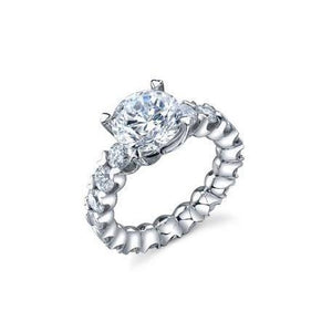 3.30 Carats Sparkling Round Cut Diamonds Wedding Ring Anniversary Ring