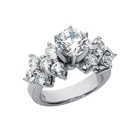 3.31 Carat Diamonds Engagement Ring White Gold New Ring Engagement Ring