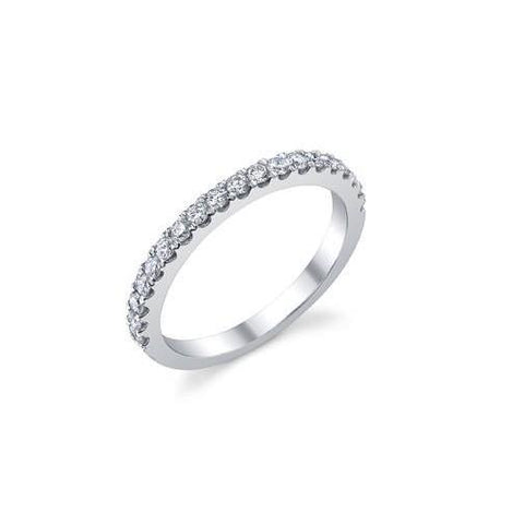 3.40 Carats Prong Set Diamonds Lady Eternity Wedding Band White Gold Eternity Band