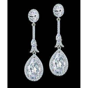 3.50 Ct. Diamond Hanging Chandelier Earrings Pair White Gold Earring Chandelier Earring