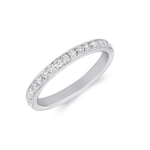 3.50 Ct Prong Set Round Cut Diamonds Eternity Wedding Band Gold 14K Eternity Band