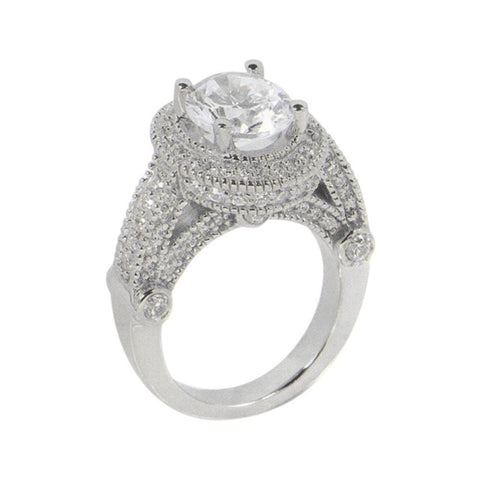 3.51 Carat Diamond Engagement Ring Luxurious Antique Engagement Ring