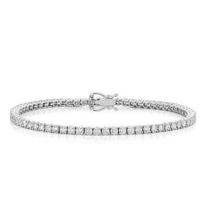 3.6 Round Diamond Tennis Bracelet F/G Vs2/Si1 60 Stones White Gold 14K Tennis Bracelet