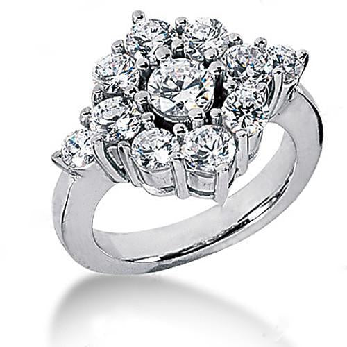 3.60 Ct. Diamond Engagement White Gold Ring G Vvs1 Jewelry Engagement Ring