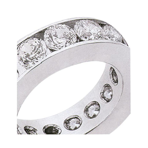 3.75 Carat Round Brilliant Diamonds Eternity Engagement Band New Eternity Band