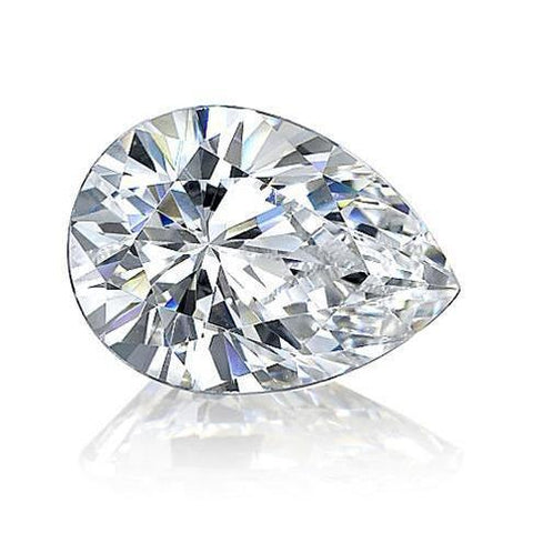 3.75 Carat Sparkling Pear Cut G Si Loose Diamond New Diamond