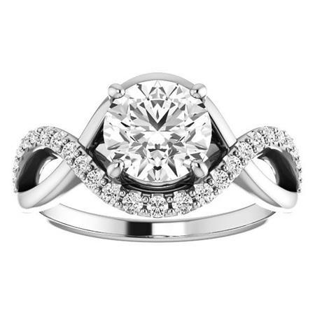 3.90 Carats Brilliant Cut Diamond Engagement Ring White Gold 14K Jewelry Engagement Ring
